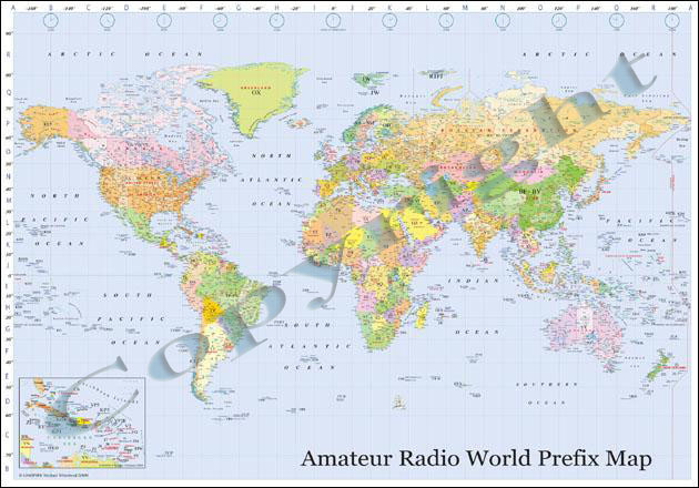 Amateur radio world prefix maps special discount for readers of a low res image of our map which will give you an idea of the look and quality gumiabroncs